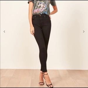 Reformation Jeans - Reformation Elissa black high and skinny jeans